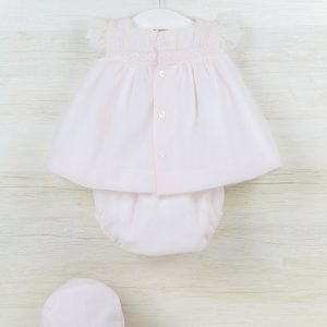 Pink Blouse with Matching Bloomer