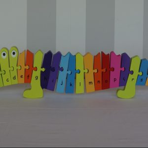 Handcrafted Wooden Croc Alphabet Puzzle
