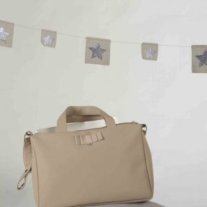 Taupe Changing Bag Parma . www.thebabycloset.ie