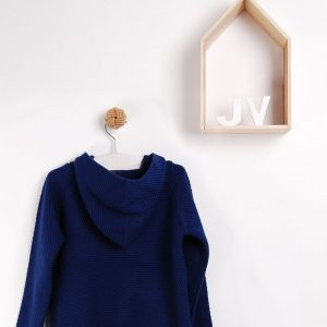 blue hooded jumper . www.thebabycloset.ie