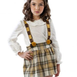 yellow tartan girl outfit . www.thebabycloset.ie