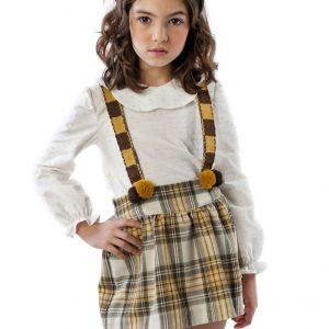 yellow tartan girl outfit . www.thebabycloset.ie