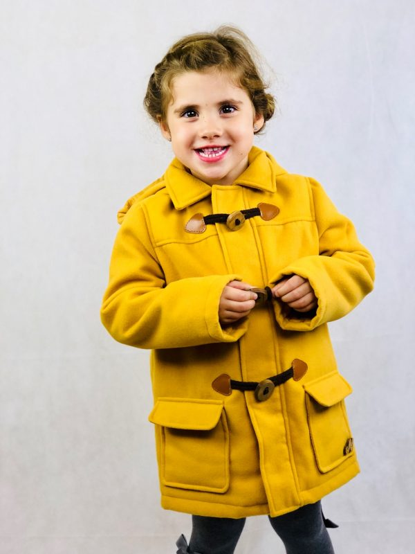 yellow duffel coat .www.thebabycloset.ie