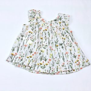sol floral cotton baby girl shirt . www.thebabycloset.ie