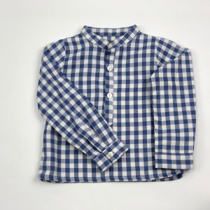 checked blue shirt . www.thebabyclsoet.ie