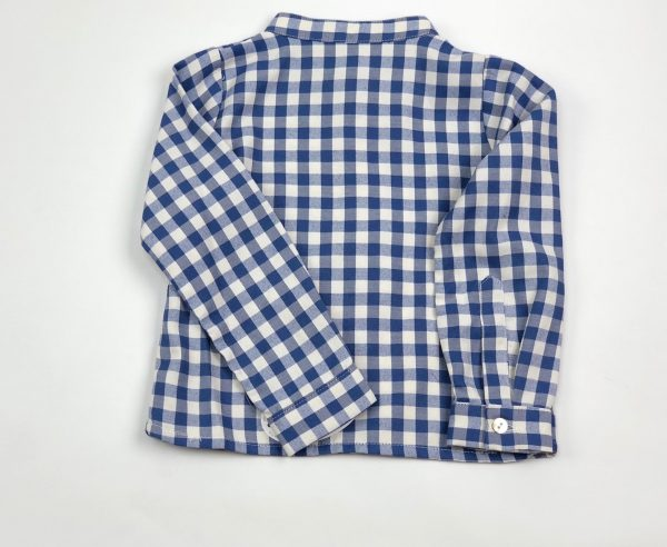 checked blue shirt . www.thebabycloset.ie