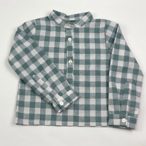simon baby checked green shirt . wwwthebabycloset.ie