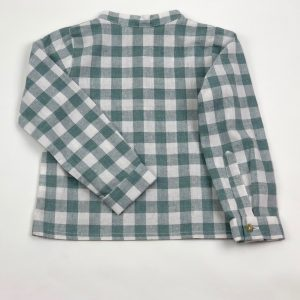 simon baby checked green shirt . www.thebabycloset.ie