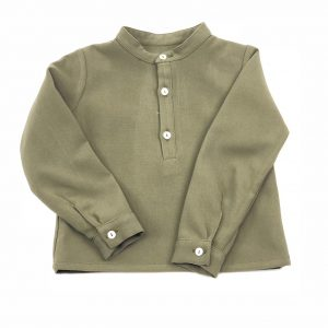 forest green baby shirt . www.thebabycloset.ie