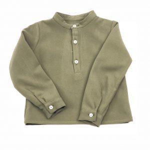 forest green baby shirt . www.thebabycloset.ie