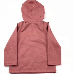 dusk pink hooded jumper . www.thebabycloset.ie