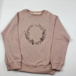 floral crown girls jumper. www.thebabycloset.ie